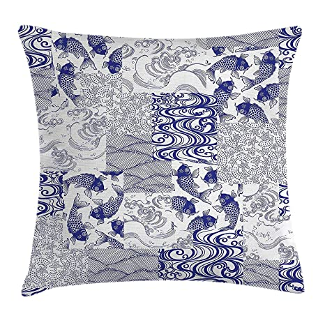 DHNKW Japanese Throw Pillow Cushion Cover, Japanese ...