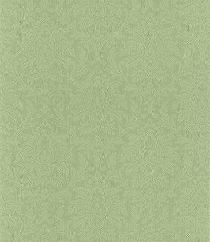 Warner Ccp12262 Angela Mint Transparent Damask Wallpaper Green