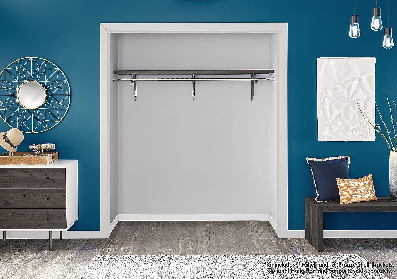 ClosetMaid 1417 Premium Wood Ventilated Shelf Kit 6Foot X 12Inch Espresso