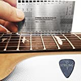 StrungOut Double Sided Multi Function String Action & Guitar Set Up Gauge Ruler ~ With User Guide, Free Plastic Holder & StrungOut Pick ~ Luthier Tool for Electric, Acoustic & Bass Guitars ~ Inch & Millimeters ~ New Polished Edges - UK
