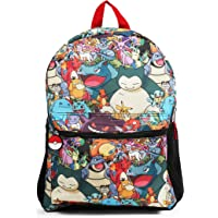 "Pokemon All Over Print Multi Character 16"" Backpack School Bag"
