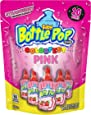 Baby Bottle Pop Individually Wrapped Pink Party Pack –10 Flavored Pink Candy Lollipop Suckers Pink Candy for Celebrations Virtual Parties, Strawberry, 10 Count