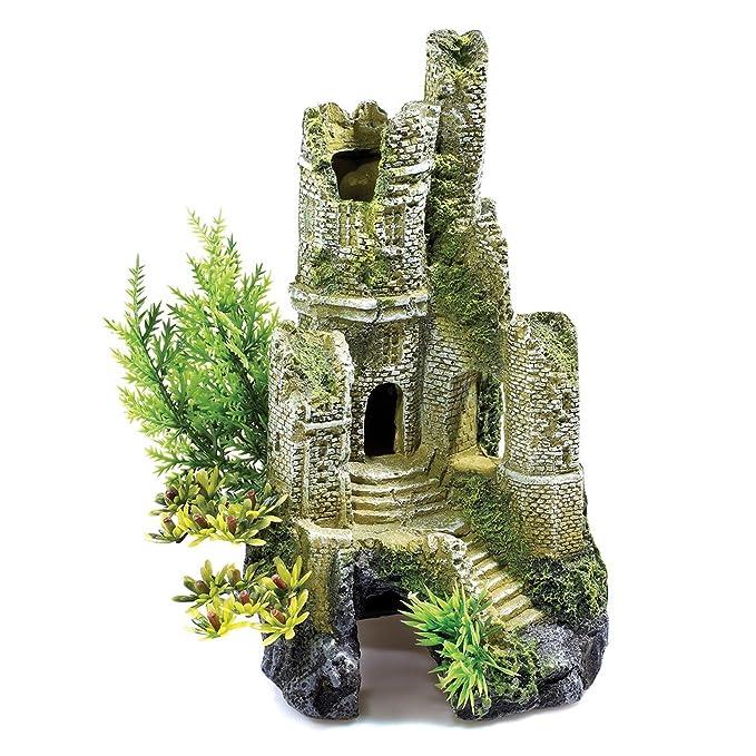 Decorado para Acuario de 30 Litros - Castillo en Ruinas 0930: Amazon.es: Ropa y accesorios