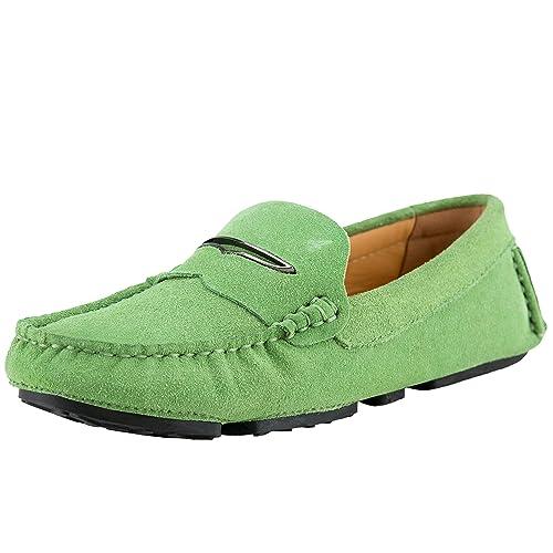 Shenduo Zapatos Casuales - Mocasines de Cuero Suave cómodos Antideslizantes para Mujer D9123: Amazon.es: Zapatos y complementos