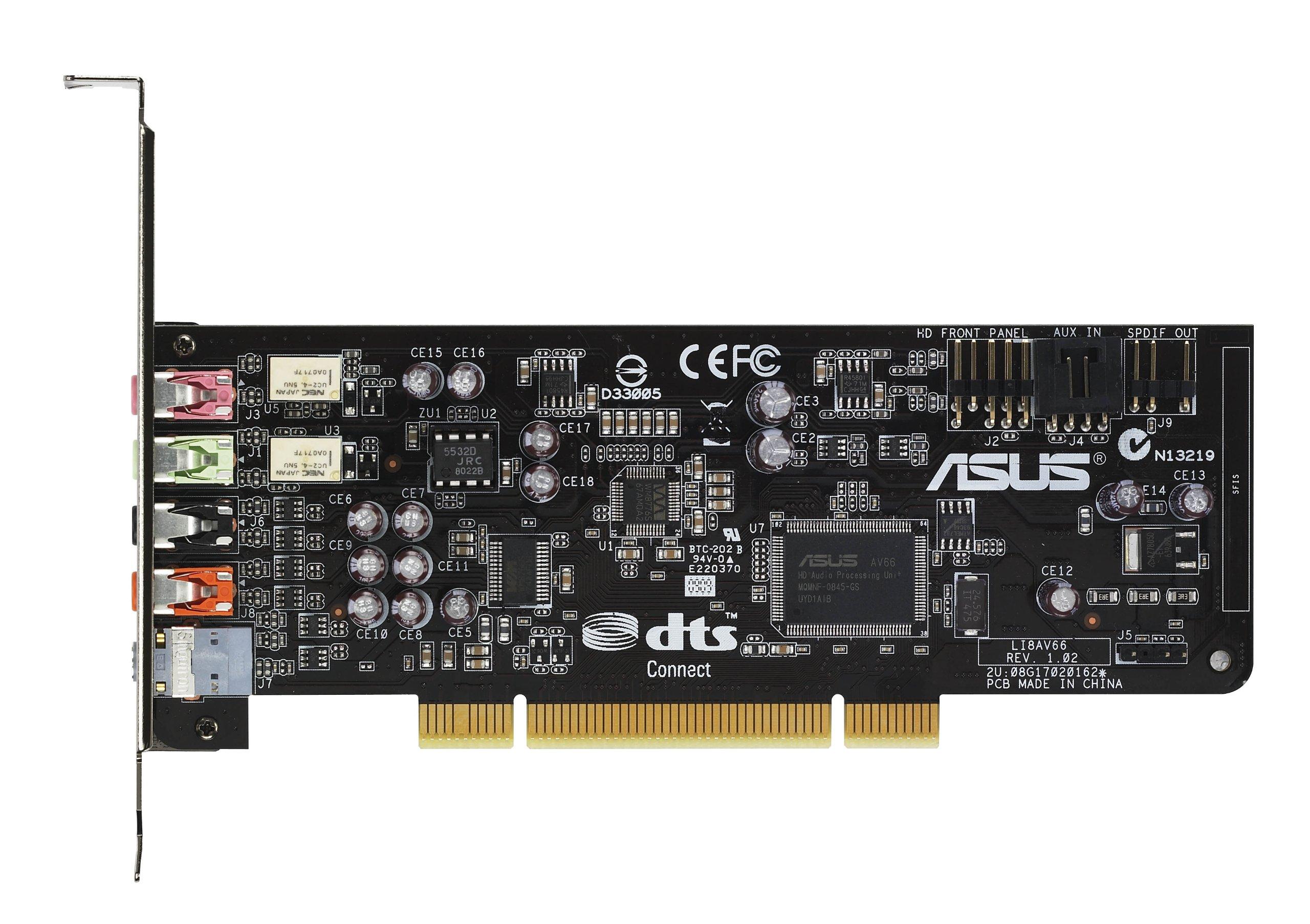 Xonar Dg Amp 5.1 Pci Sound Card Gx 2.5 Gaming Dolby Headphone by ASUS