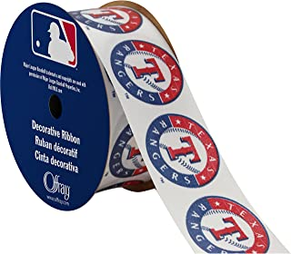 """product image for Offray MLB Texas Rangers Fabric, 1-5/16"""" X 9FT Ribbon"""