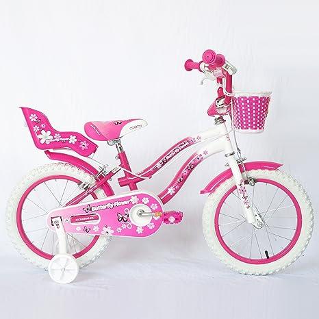 Schiano bicicleta Butterfly Mujer Blanco/Rosa de acero con 2 ...