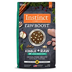 Instinct Raw Boost Large Breed Puppy Grain Free Recipe with Real Chicken Natural Dry Dog Food by Nature's Variety