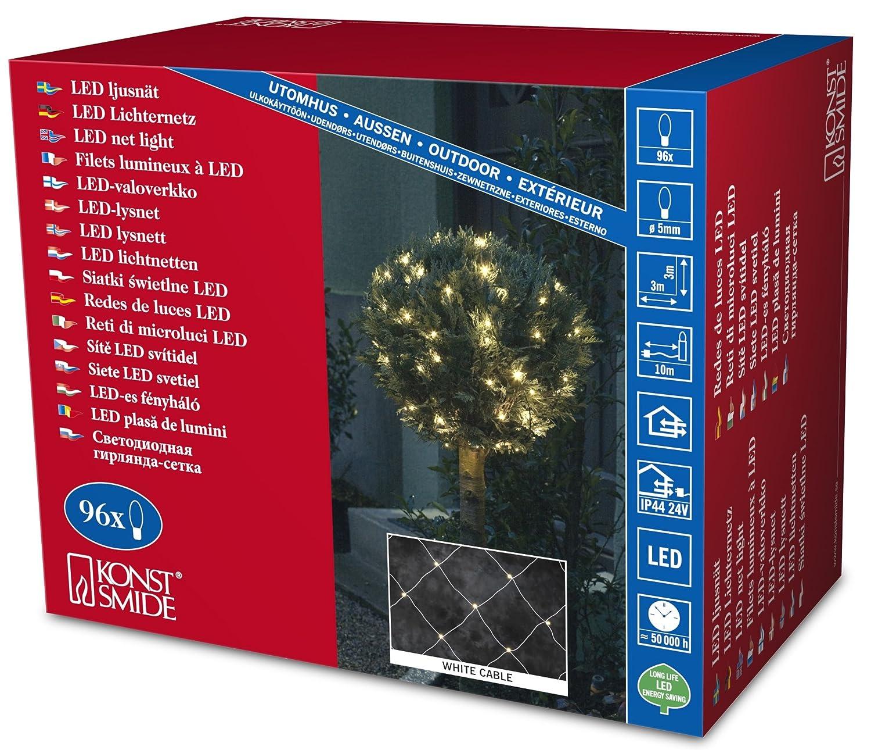 Konstsmide Light Sets Outdoor 96 LEDs 3 x 3 m Net Light White