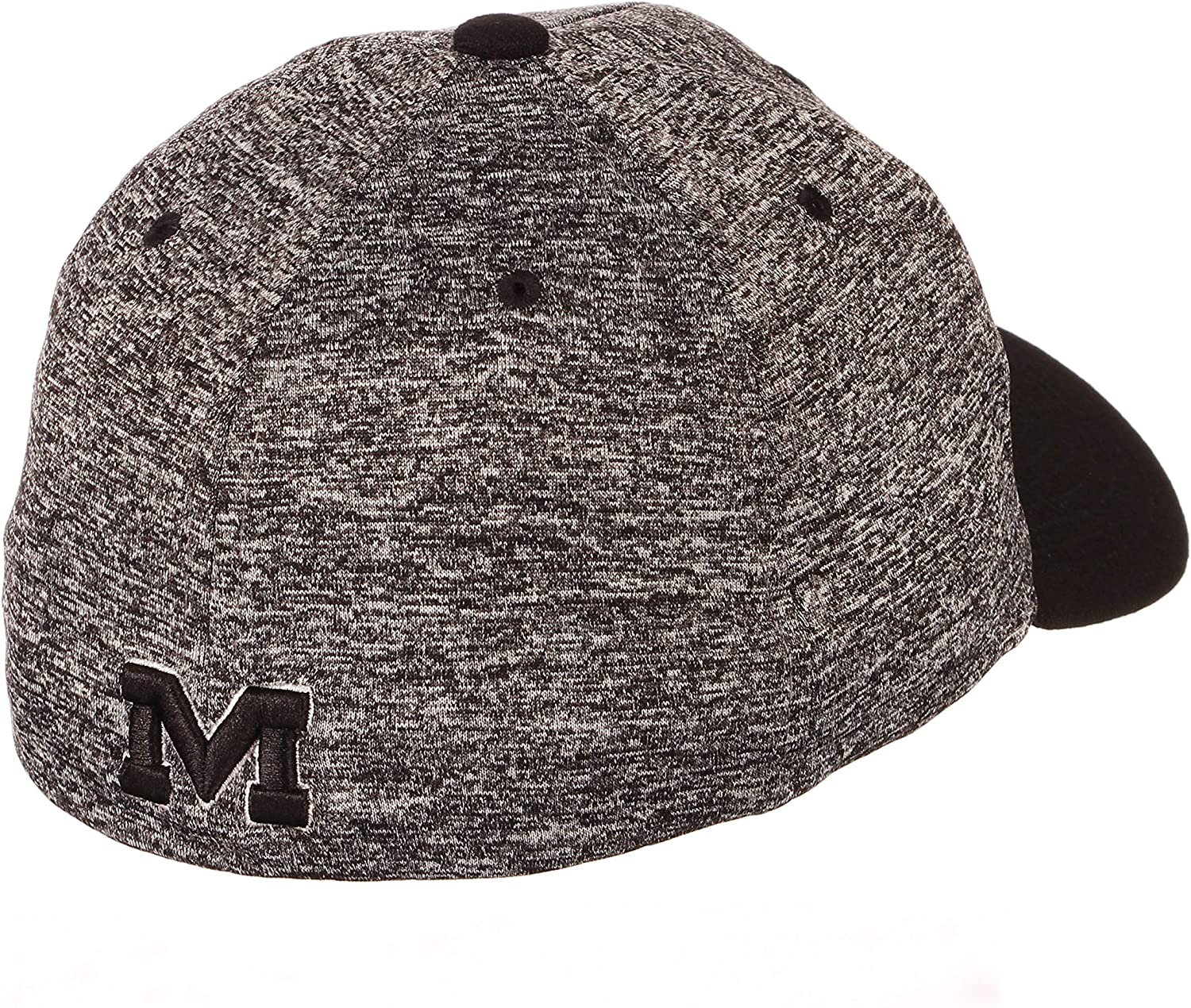 Small NCAA Zephyr Mississippi Old Miss Rebels Mens Interference Z-Fit Hat Charcoal//Black
