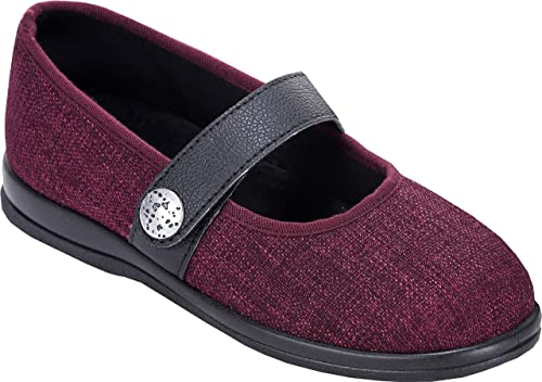Ladies Shoes Size 5 Daisy Mae Cosyfeet Extra Roomy Leather Red Leather Be Friendly In Use Women's Shoes