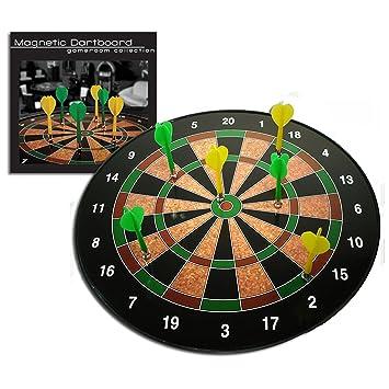 Westminster Magnetic Dartboard   A Safe Dart Board Game   Includes 6 Darts