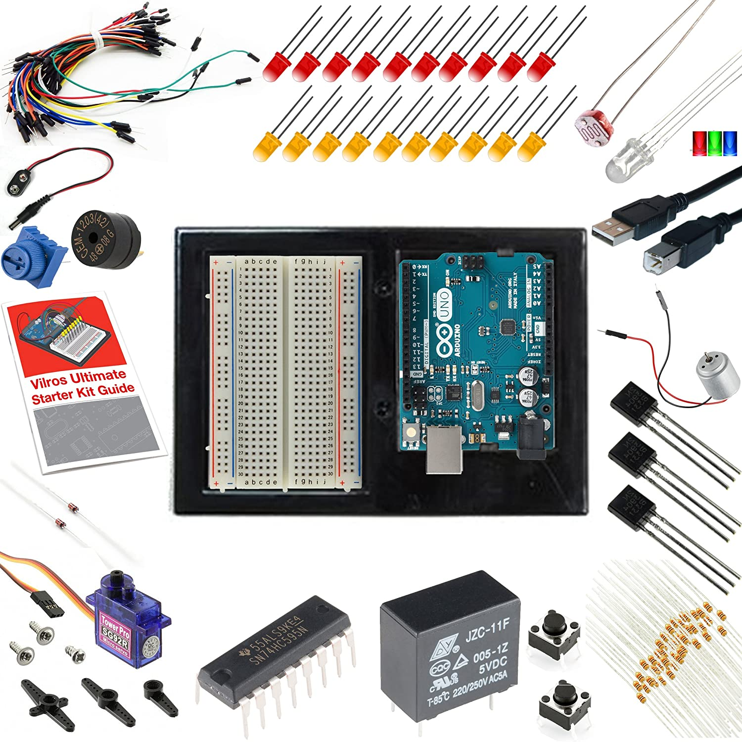 Vilros Arduino Uno 3 Ultimate Starter Kit Includes 12 Guide To Be An Electronic Circuit Design Engineer Rc Learning Computers Accessories