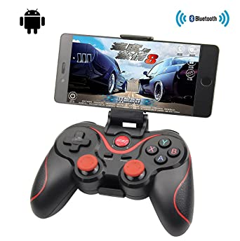 916590c595e Amazon.com: Obecome T3 Bluetooth Wireless Game Controller Gamepad Joystick  for Smart Phones/Tablets/TVs/TV boxes(BLACK): Video Games