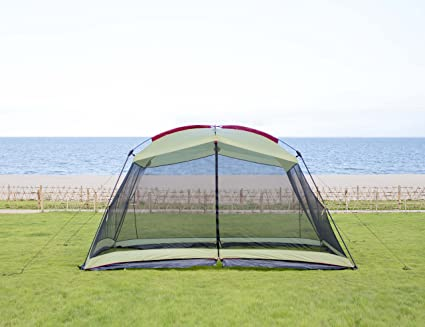 13 x 9 ft Large Screen House Outdoor Camping Tent Gazebo Canopy Mosquitoes Net