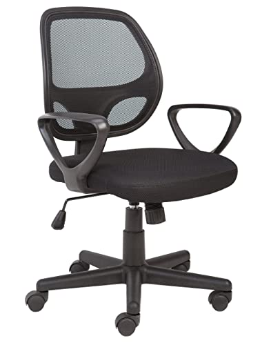 office chair controls. Office Essentials Mesh Back Swivel Desk Chair With Torsion Control, Black Controls M