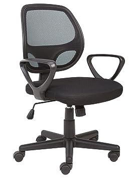 La Au De En Tissu Avec Office Rotation DosNoir Bureau Poignée Maillé EssentialsChaise Contrôle E2WDI9H