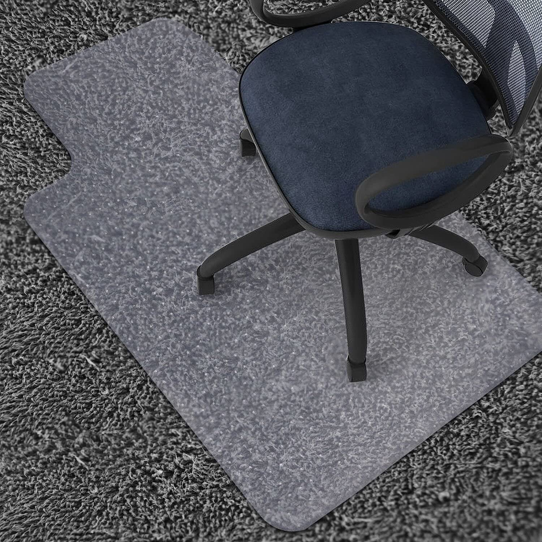 Non Slip Office Chair Floor Mat Computer Desk Carpet Protector Cover PVC Clear