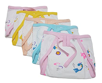 5ff25e8d817c Buy GoodStart Reusable Padded Hosiery Cotton Baby Nappies - Set of 5 ...