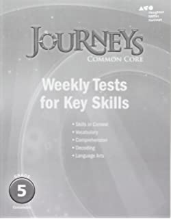 Amazon journeys cold reads grade 5 9780547893938 houghton journeys common core weekly assessments grade 5 fandeluxe Images