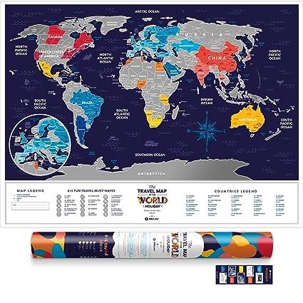 Large scratch off world map premium edition 315 x 236 large scratch off world map premium edition 315quot x 236quot places gumiabroncs Images