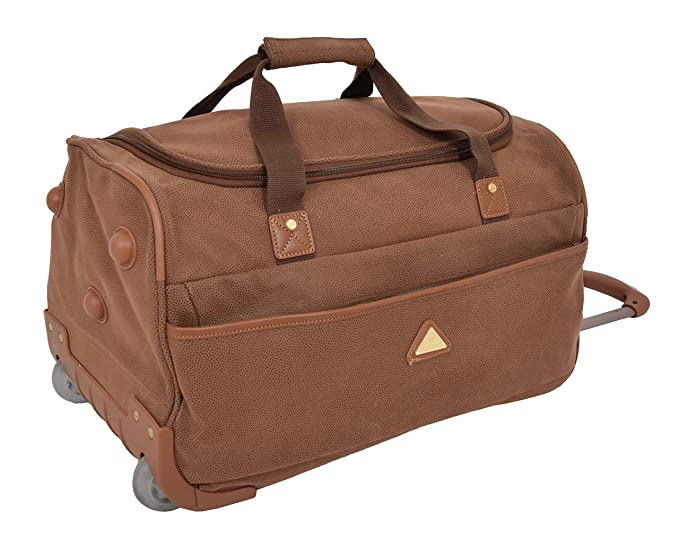 Image Unavailable. Image not available for. Colour  Wheeled Holdall  21 quot  Medium Camel Faux Leather Travel Duffle Cabin Trolley Bag - Norge.  Roll ... 926c940f2abe9