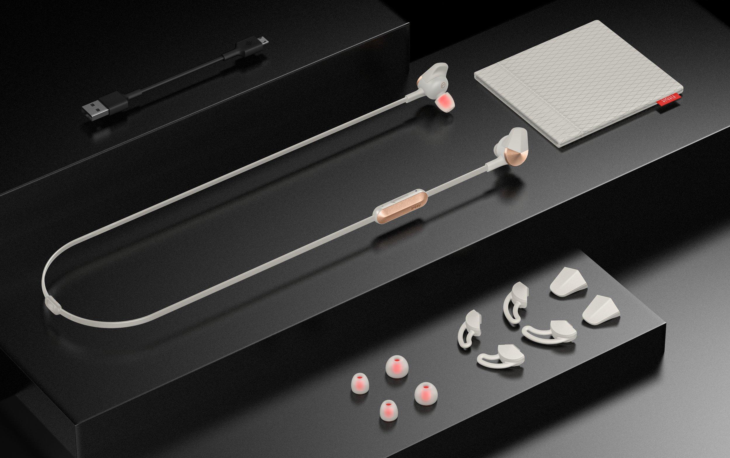 Fitbit Flyer Wireless Headphones, Lunar Gray by Fitbit (Image #5)