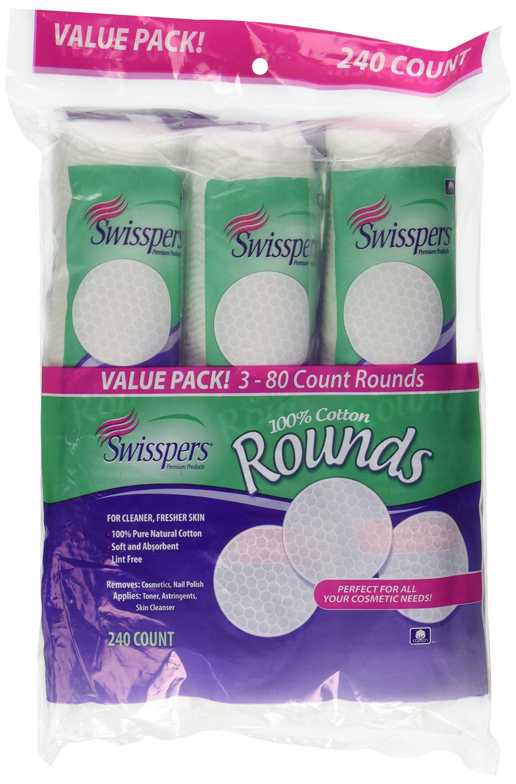 Swisspers Cotton Rounds 240 ct