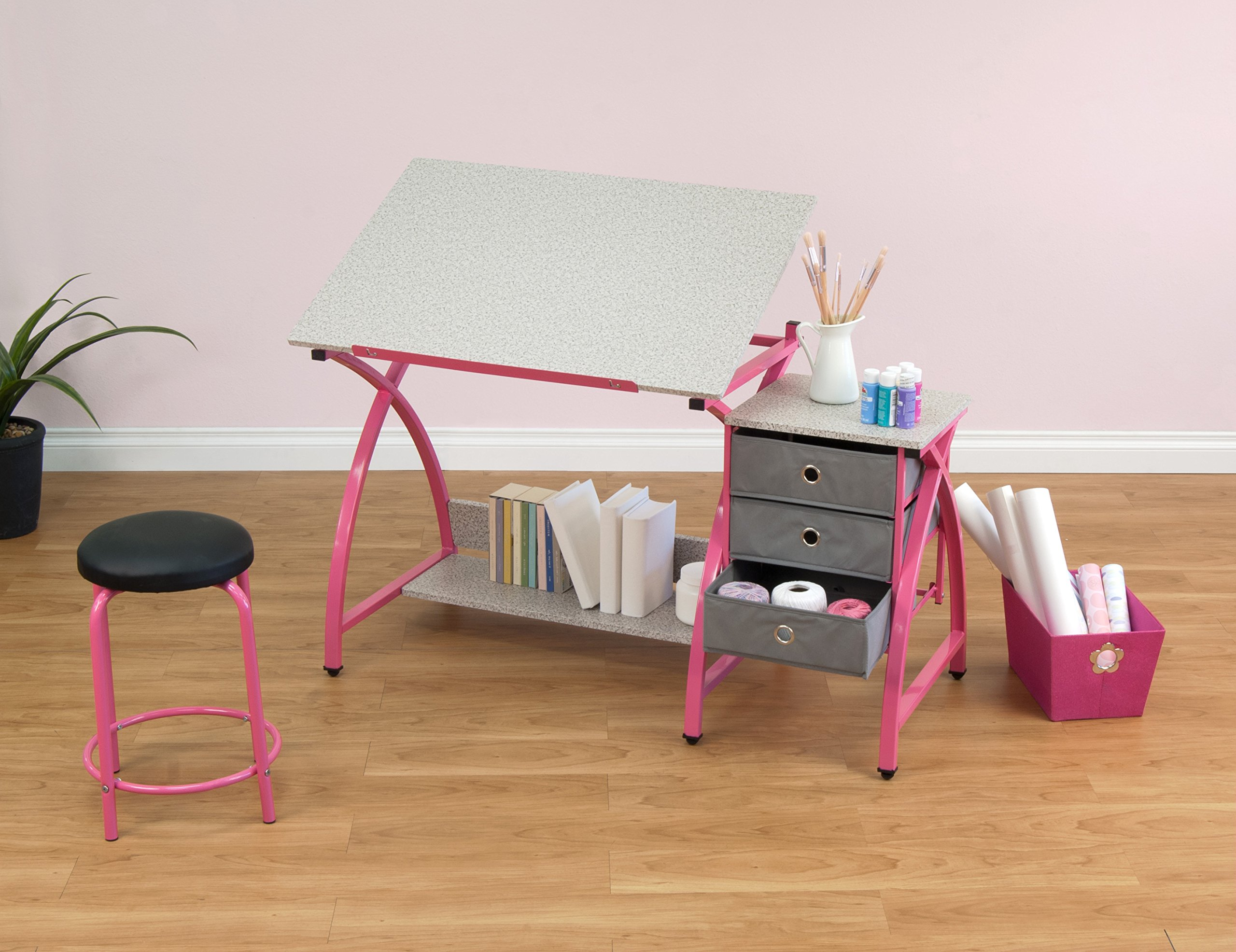 Comet Center with Stool in Pink / Spatter Gray by SD Studio Designs (Image #6)