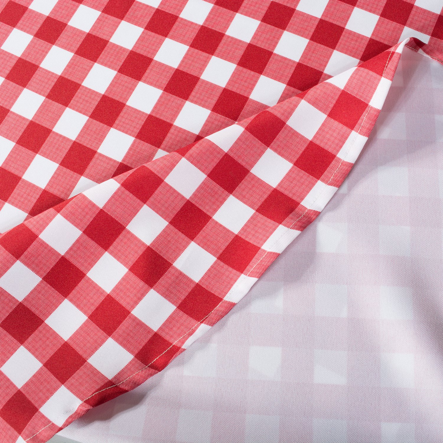 DII Spring & Summer Outdoor Tablecloth, Spill Proof and Waterproof with Zipper and Umbrella Hole, Host Backyard Parties, BBQs, & Family Gatherings - (60x120'' - Seats 10 to 12) Red Check by DII (Image #4)