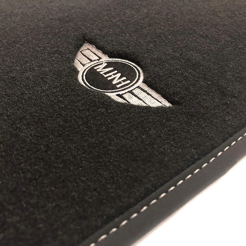 Velour Logo Mini 2007-2014 Alfombrillas Mini Cooper//One R56 Rey Alfombrillas/®