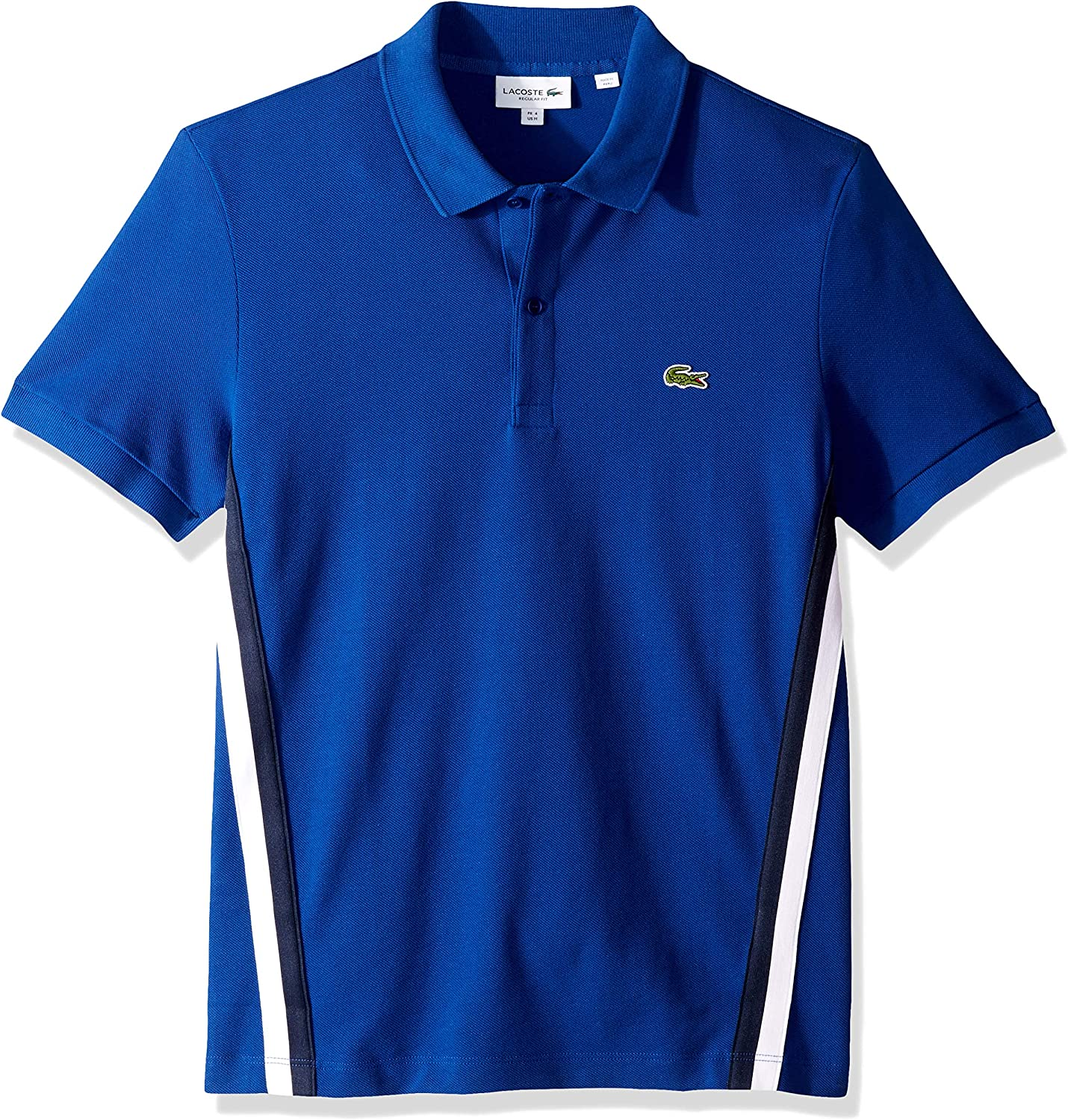 Lacoste Mens S//S Striped Pique Polo Regular FIT Shirt
