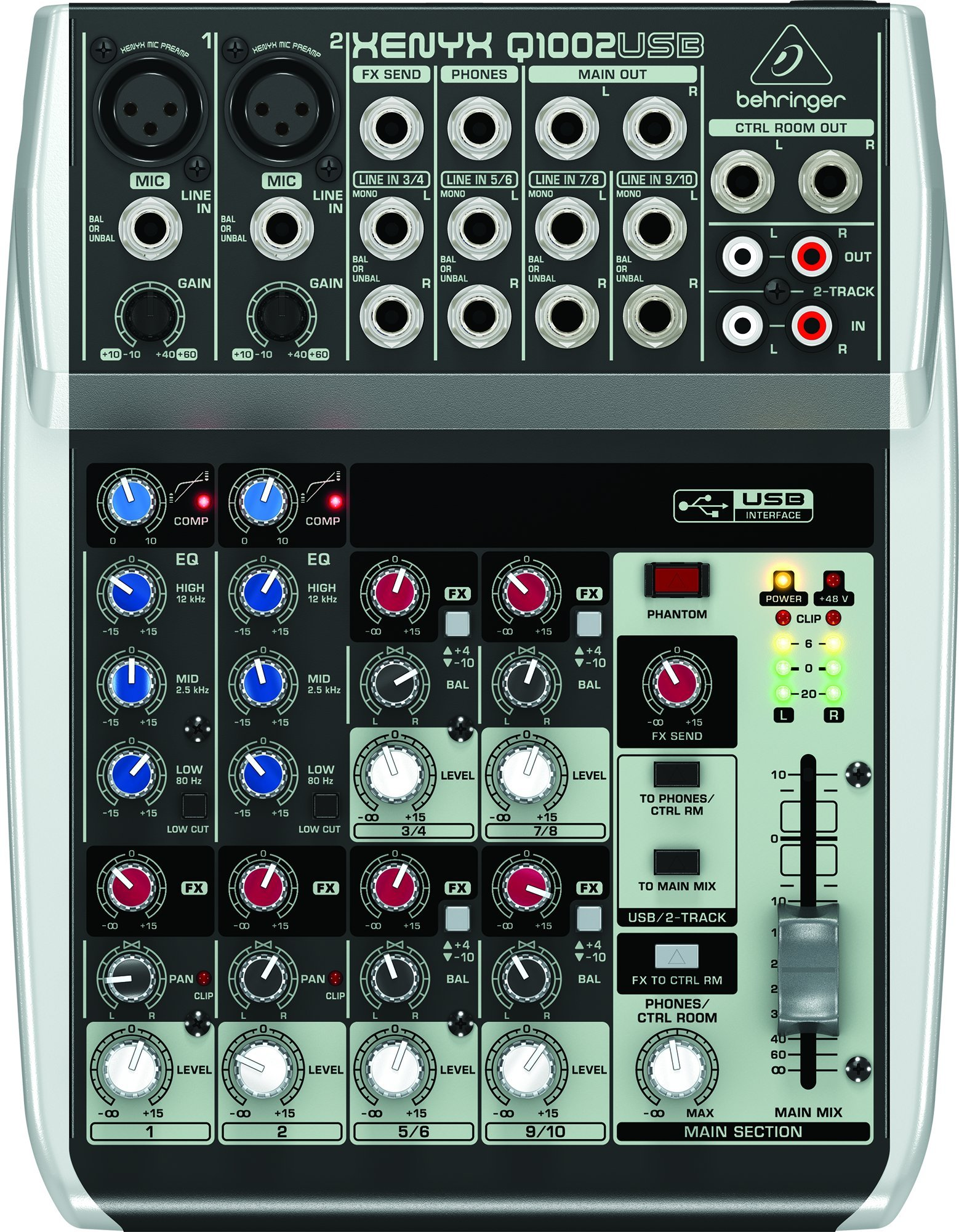 Behringer Xenyx Q1002USB USB Audio Mixer by Behringer