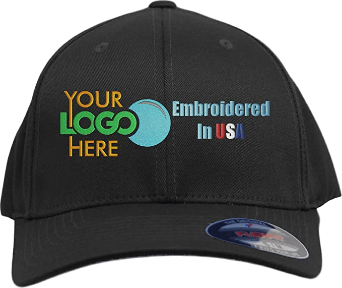 a832e4f51 Custom Hat. Flexfit 6277. Flexfit 6477. Embroidered. Your Own Logo Curved  Bill.