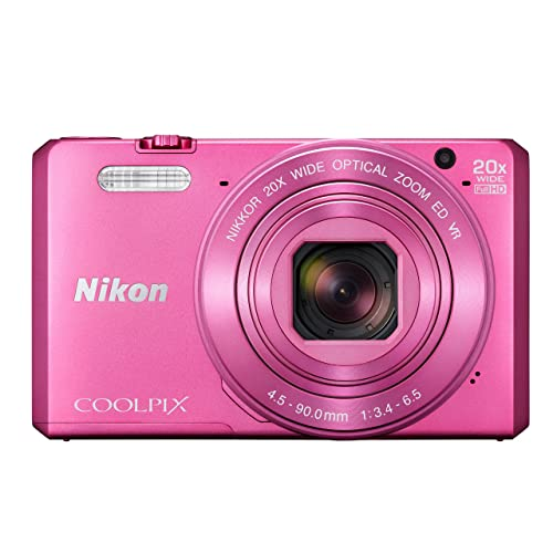 Nikon COOLPIX S7000 Compact Digital Camera - Pink (16.0 MP, CMOS Sensor, 20x Zoom) 3.0 -Inch LCD