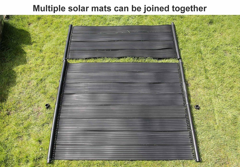 Kit para calentar piscinas compuesto por una manta con panel solar de 30 W y una bomba: Amazon.es: Hogar