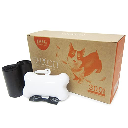 CHACO Bolsas para Excrementos de Perro con Dispensador (300bls en rollos) - Biodegradable, Bolsas de basura resistentes para desechos de mascotas con ...