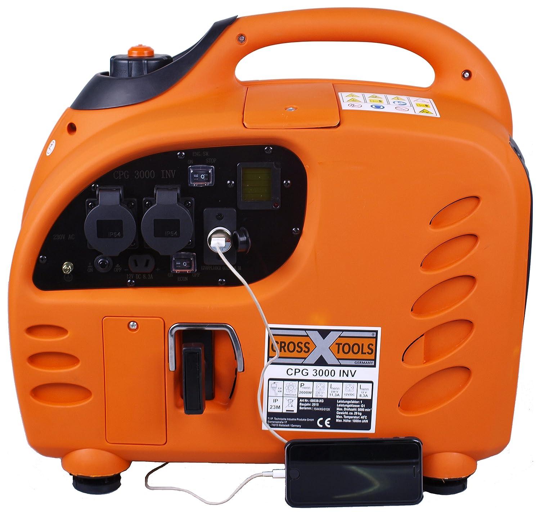 Cross Tools 68038 Inverter Stromerzeuger Generator CPG 3000 INV 2,8 ...