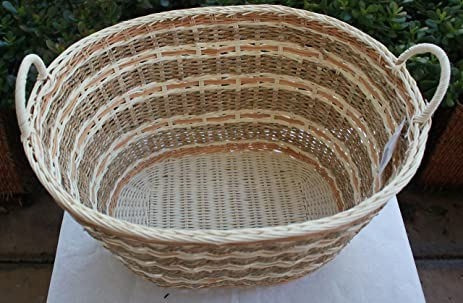 Amazon Com Rt450170 Wicker Rattan Storage Basket With Handles