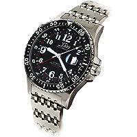 Xezo Air Commando d45-r, 300metres resistente al agua buceo y Pilot automático suizo GMT reloj