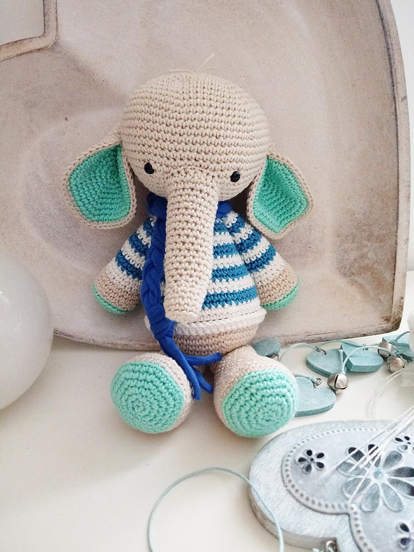 Semmy_ elefante all'uncinetto Amigurumi. regalo per bambini e neonati. pupazzo ecologico e sicuro