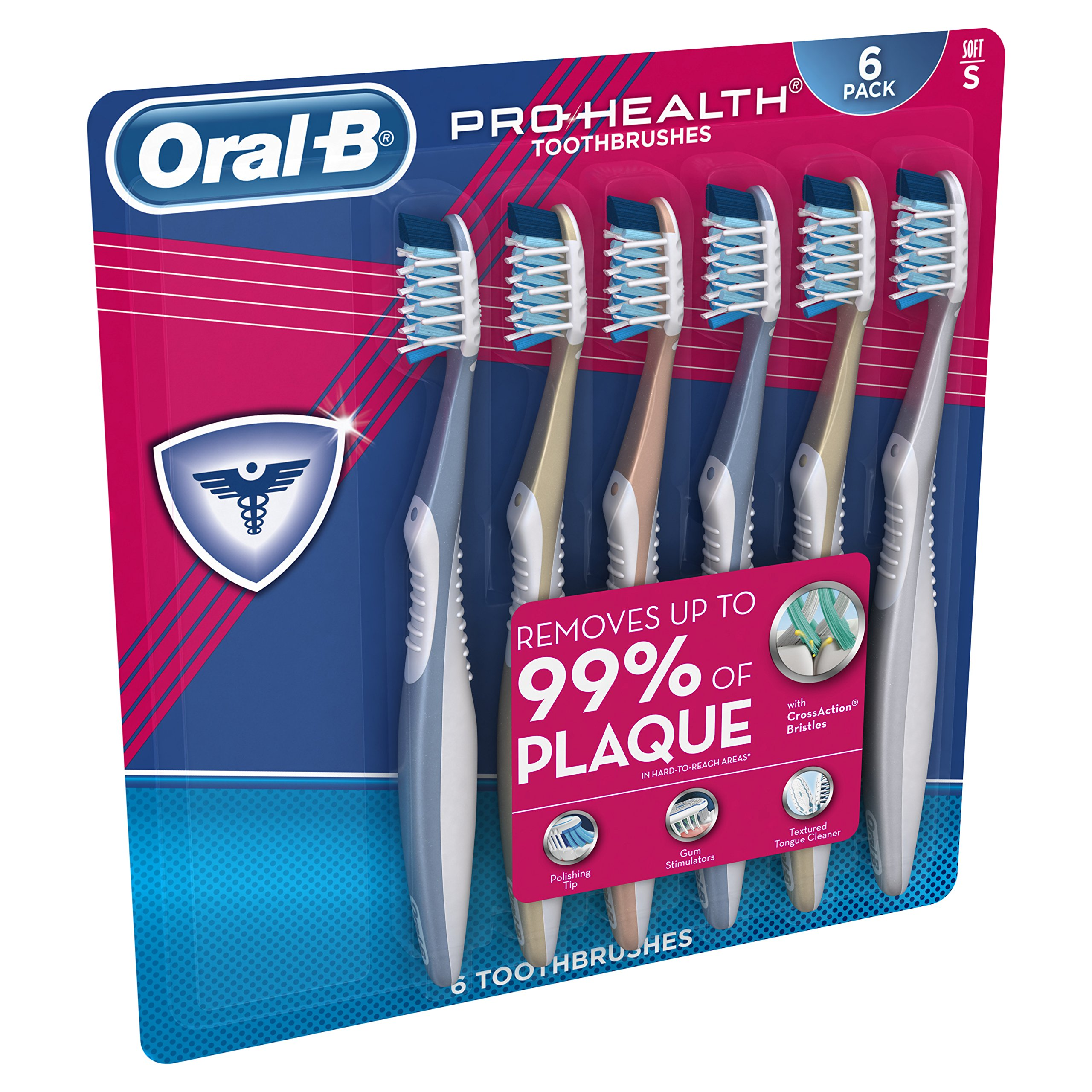 Oral-B Pro Health All In One Soft Toothbrushes, 6 Count by Oral B (Image #3)