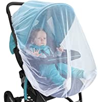 2 Pack Elasticized Full Cover Bug Net for Bassinet Infant Car Seat Cradle Baby Carrier Cover Crib Pack n Play Netting Infants Stroller Mosquito Netting