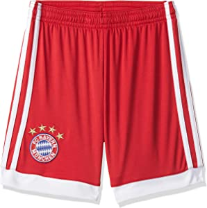 adidas 2017-2018 Bayern Munich Home Shorts (Red) - Kids