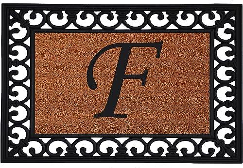 Calloway Mills 180041925F Monogram Insert Doormat 19 x 25 Letter F