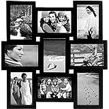 Malden International Designs Home Profiles Puzzle Collage Picture Frame, 9 Option, 9-4x6, Black
