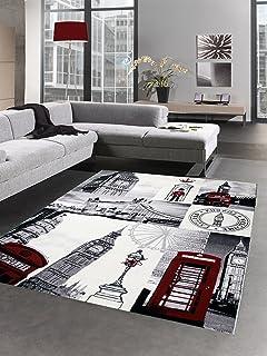Carpetia Designer Teppich New York Motiv Grau Schwarz Grosse 120x170