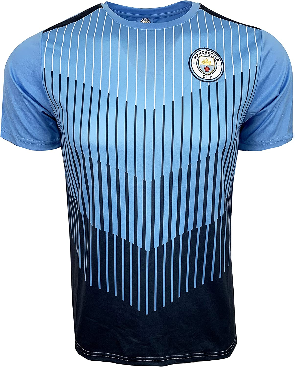 -11 Icon Sports Men Manchester City Licensed Soccer Poly Shirt Jersey Custom Name and Number
