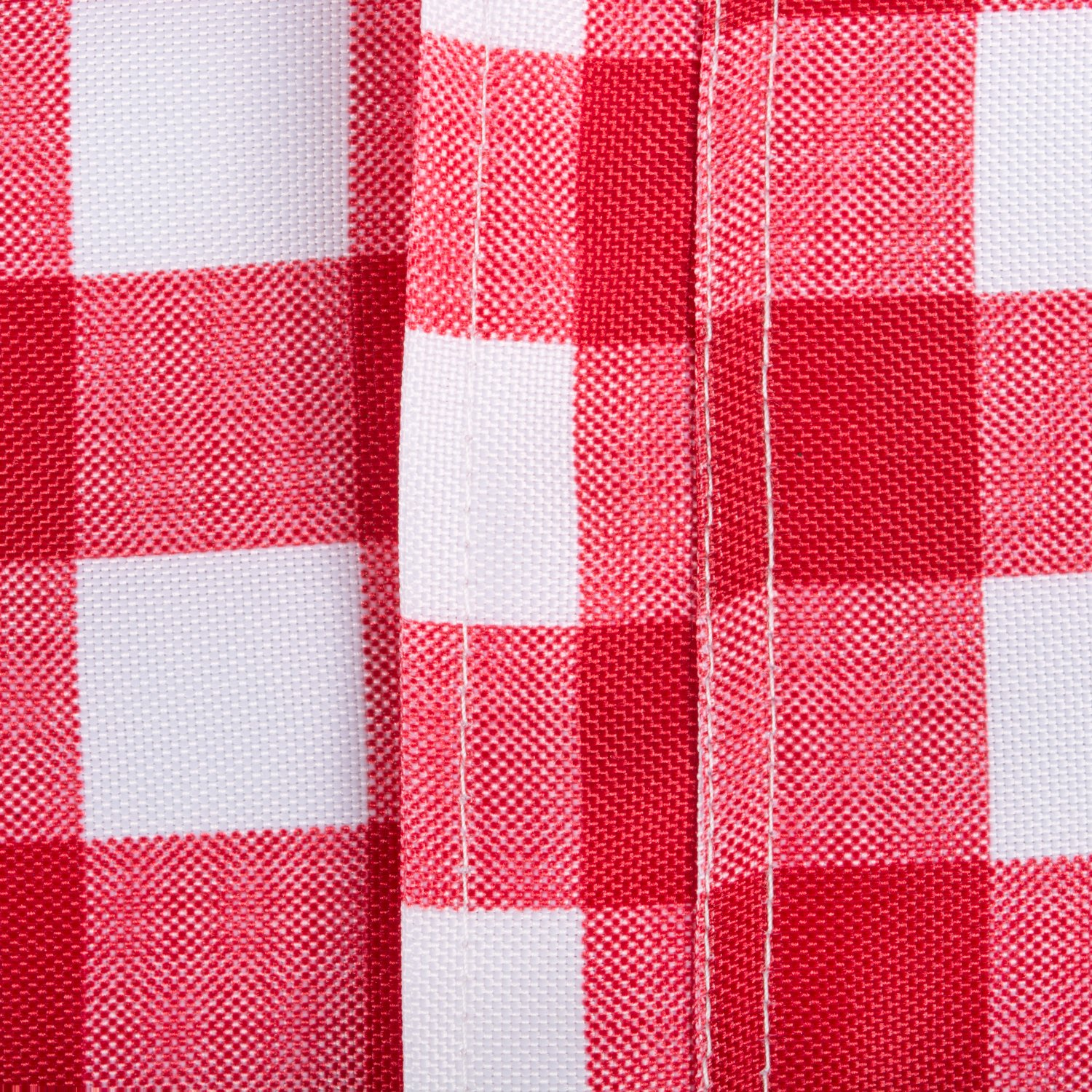 DII Spring & Summer Outdoor Tablecloth, Spill Proof and Waterproof with Zipper and Umbrella Hole, Host Backyard Parties, BBQs, & Family Gatherings - (60x120'' - Seats 10 to 12) Red Check by DII (Image #5)