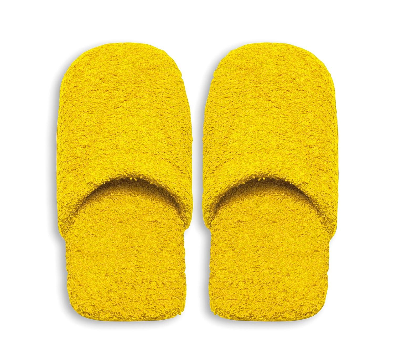 Excelsa Caldo Pantofole da Bagno, Spugna, Rosso, 36-40 Giallo